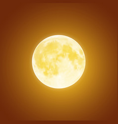 Bloody moon over brown night sky background vector