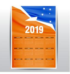 Calendar 2019 tierra del fuego province argentina vector