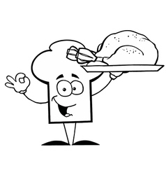 Cartoon chefs hat with food vector