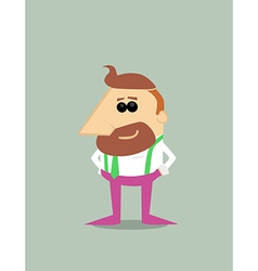 Cartoon hipster businessman vector image