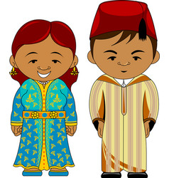 Cheerful african couple from morocco vector