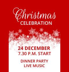 christmas celebration vector image