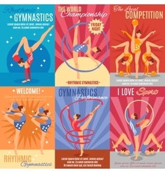 Collection Of Rhythmic Gymnastics Posters vector