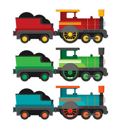 colorful train flat style vector image