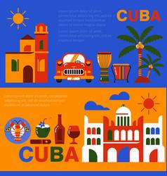 cuba havana travel banner vector image