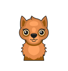 cute squirrel face cartoon style on white vector image