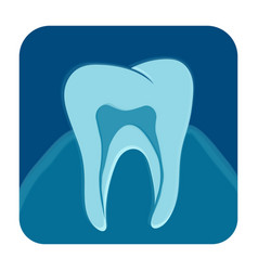 Dental x-ray icon vector