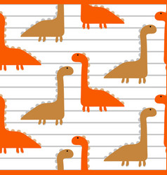 dino cheerful kid seamless pattern vector image