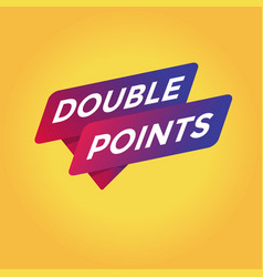 double points tag sign vector image