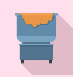 Dough factory cauldron icon flat style vector