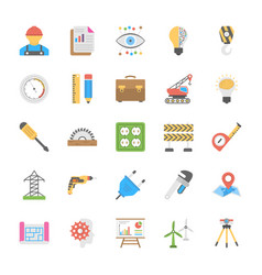 Engineering flat icons vector