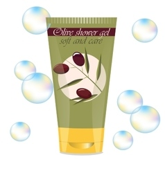 Face or hand olive cream vector