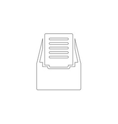 file archive flat icon vector image