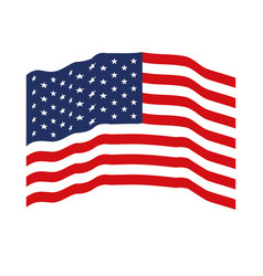 flag united states of america waving colorful icon vector image