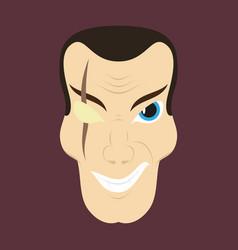 Flat cartoon superhero character design vector