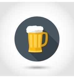 Foamy mug beer vector