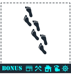 Footprint icon flat vector image