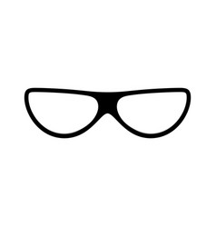 glasses icon silhouette glasses isolated vector image