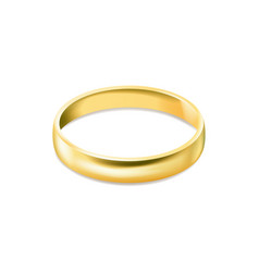 gold engagement ring isolated on white background vector image