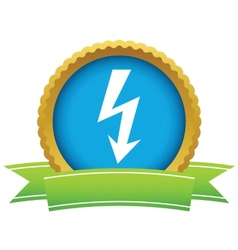 Gold lightning logo vector image