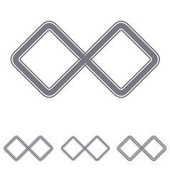 Grey infinite loop logo design set vector