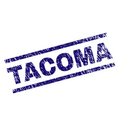 Grunge textured tacoma stamp seal vector