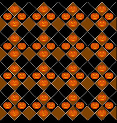 halloween pumpkin seamless pattern design vector image