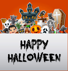 Happy halloween poster card celebrations vector