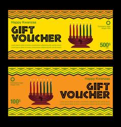 Happy kwanzaa gift voucher vector