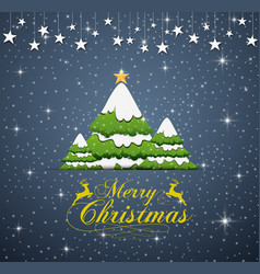 happy new year merry christmas 2019 with yellow ty vector image