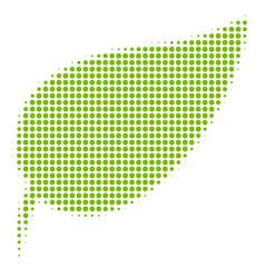 herbal leaf halftone icon vector image