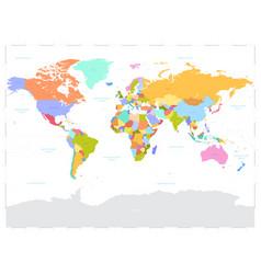 hi detail colored political world map vector image