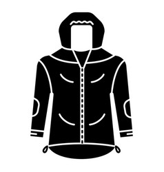 hiking jacket icon simple style vector image