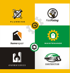 home repairs and apartment logo vector image