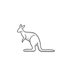 Kangaroo sketch icon vector