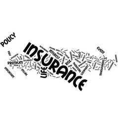 Life insurance the facts text background word vector