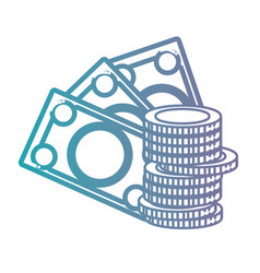 line cash money currency icon vector image