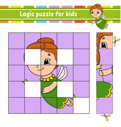 Logic puzzle for kids education developing vector