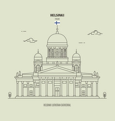 Lutheran cathedral in helsinki finland vector