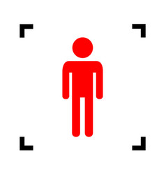man sign red icon inside vector image