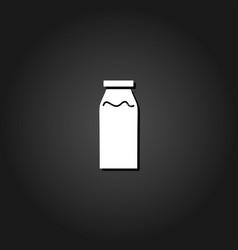 milk bottle icon flat vector image