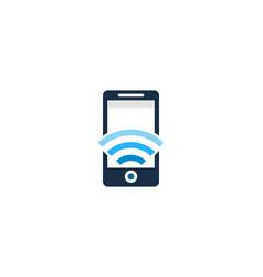 mobile wifi logo icon design vector image
