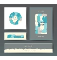 Modern grunge brush postcard template vector image