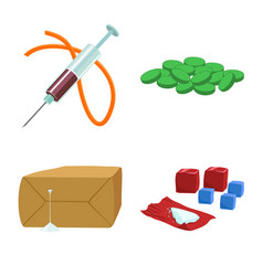 Narcotic and medical logo vector