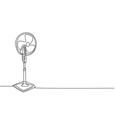 One continuous line drawing electric standing vector