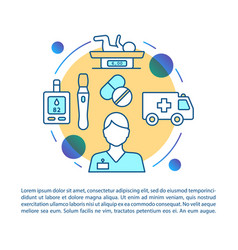 Pediatric urgent care article page template vector