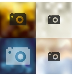 Photo icon on blurred background vector