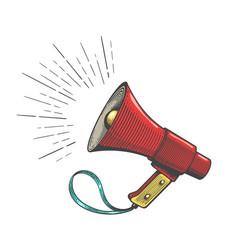Protest vintage bullhorn sketch vector