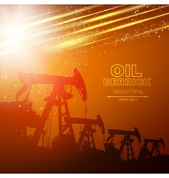 Pump Jack Oil Crane vector image