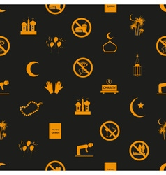 ramadan islam holiday icons seamless pattern eps10 vector image